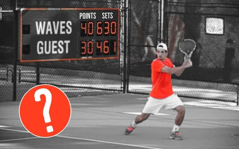 How many sets are played in tennis?