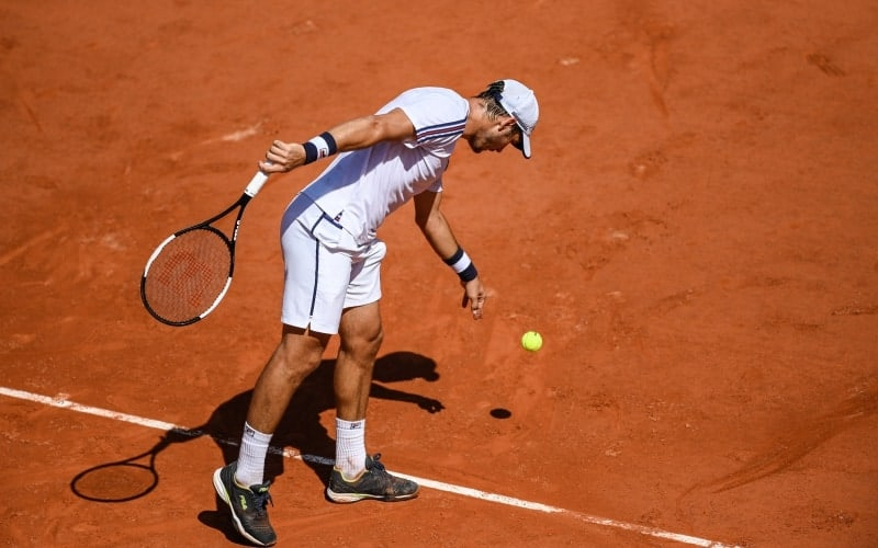 Bouncing Ball Before Serve