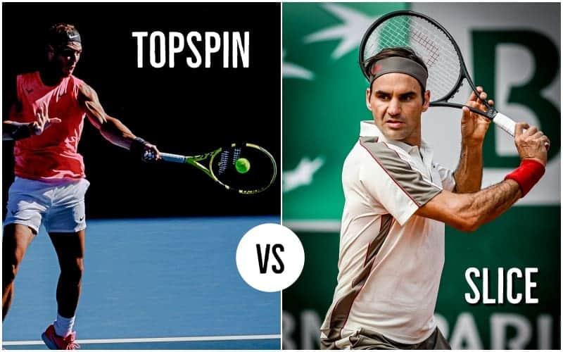 Tennis slice vs topspin