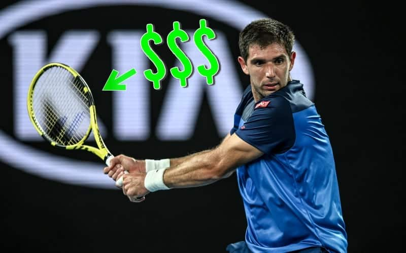 How much does it cost to restring a tennis racket?