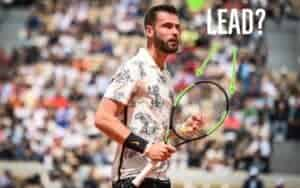What does lead tape do on a tennis racket?